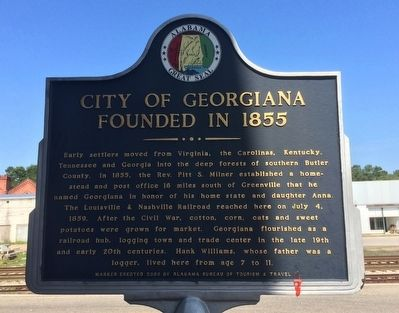 City of Georgiana Marker image. Click for full size.