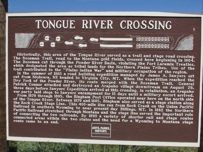 Tongue River Crossing Marker image. Click for full size.