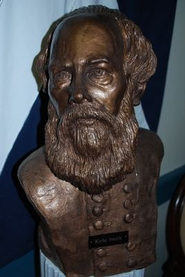 General Edmund Kirby Smith Bust - Close up image. Click for full size.