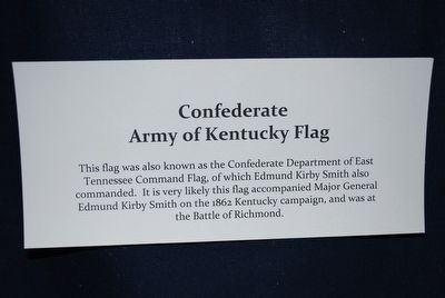 General Edmund Kirby Smith Flag information image. Click for full size.