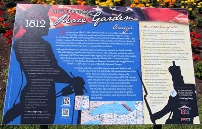 Bicentennial Peace Garden Marker image. Click for full size.