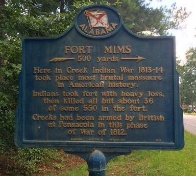 Fort Mims Marker image. Click for full size.