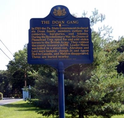 The Doan Gang Marker image. Click for full size.