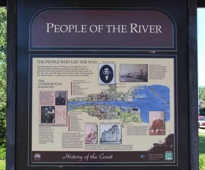People of the River Marker image. Click for full size.