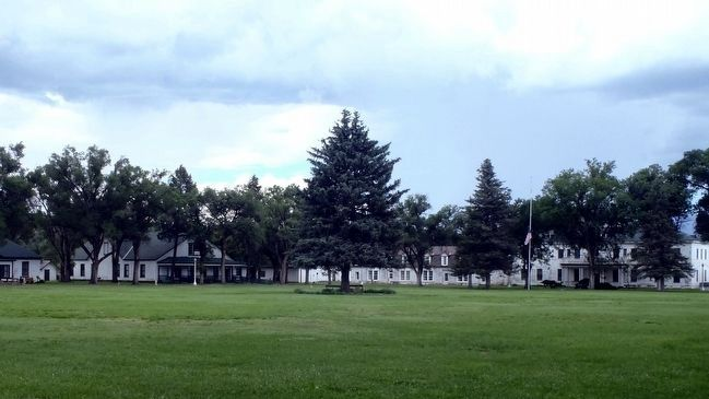 Officer's Quarters, Building 4 viewed from across the parade ground looking NE. image. Click for full size.
