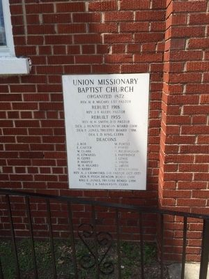 Union Baptist Church cornerstone image. Click for full size.