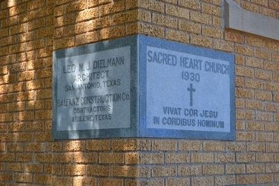 Cornerstone of Sacred Heart Catholic Church image. Click for full size.