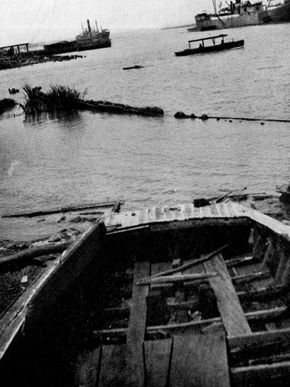 Remnants of slave ship Clotilde. image. Click for full size.