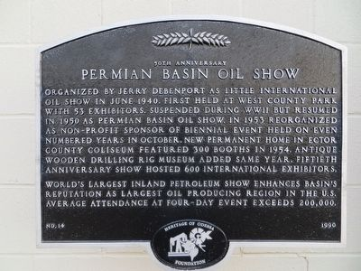 Permian Basin Oil Show Marker image. Click for full size.
