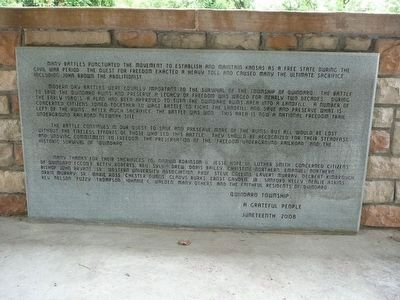 Quindaro Ruins Archaeological Park Marker image. Click for full size.