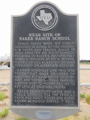 Near site of Baker Ranch School Marker image. Click for full size.