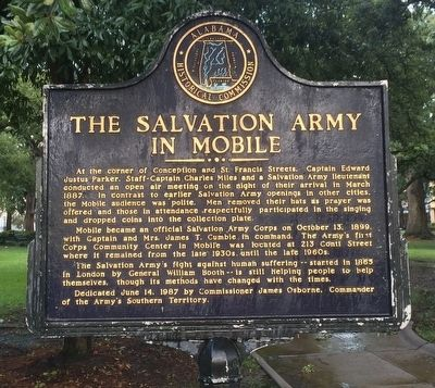 The Salvation Army in Mobile Marker image. Click for full size.