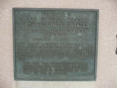 Veterans of Foreign Wars of the United States National Headquarters Memorial Marker image. Click for full size.