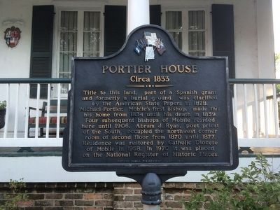 Portier House Marker image. Click for full size.
