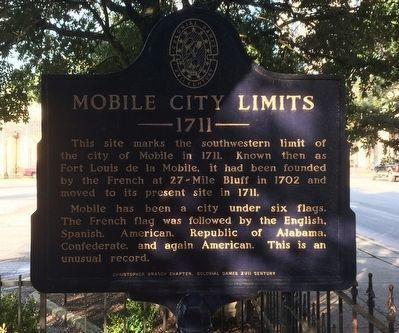 Mobile City Limits Marker image. Click for full size.