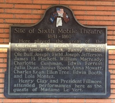 Site of Sixth Mobile Theatre Marker image. Click for full size.