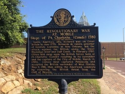 The Revolutionary War at Mobile Marker image. Click for full size.