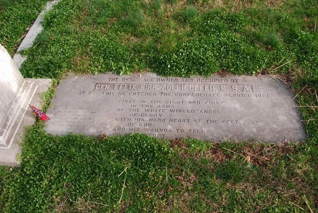 Felix K. Zollicoffer Grave image. Click for full size.