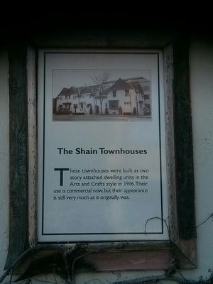 The Shane Townhouses Marker image. Click for full size.