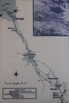 The Oswego Canal Marker image. Click for full size.