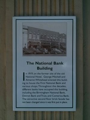 The National Bank Building Marker image. Click for full size.