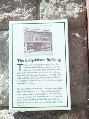 The Erity-Nixon Building Marker image. Click for full size.
