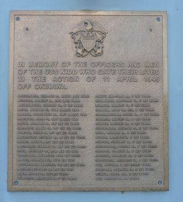 "USS KIDD - ""DD 661"" Marker - Panel 2 image. Click for full size."