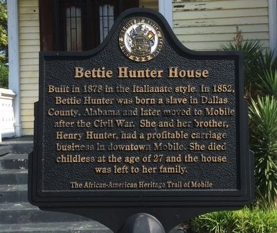 Bettie Hunter House Marker image. Click for full size.