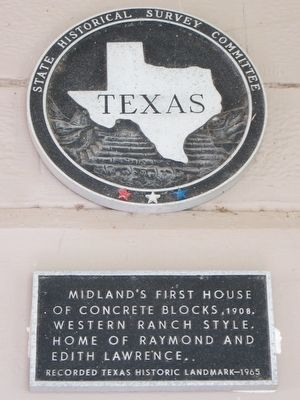 Midland's First House Marker image. Click for full size.