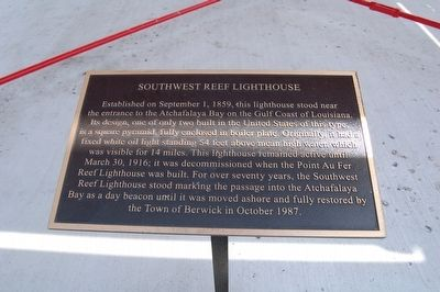 Southwest Reef Lighthouse Marker image. Click for full size.
