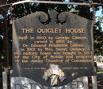 The Quigley House Marker image. Click for full size.