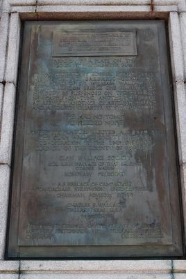 Other Plaque not mentioned on Memorial Marker image. Click for full size.