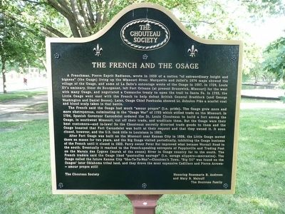 The French and the Osage Marker image. Click for full size.