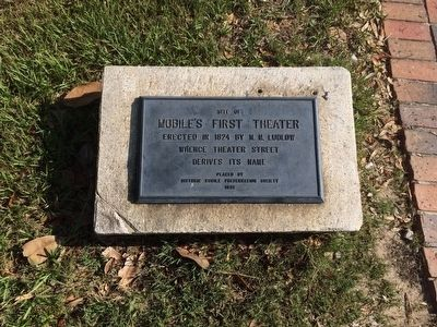 Site of Mobile's First Theater Marker image. Click for full size.
