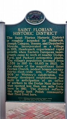 Saint Florian Church / Saint Florian Historic District Marker image. Click for full size.