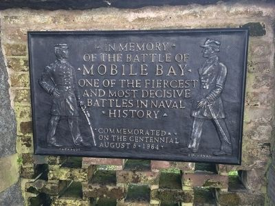 In Memory of the Battle of Mobile Bay Marker image. Click for full size.