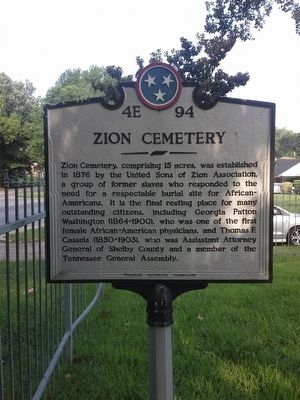 Zion Cemetery Marker image. Click for full size.