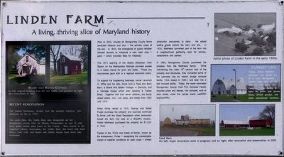 Linden Farm Marker image. Click for full size.