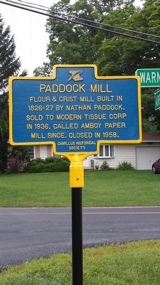 Paddock Mill Marker image. Click for full size.