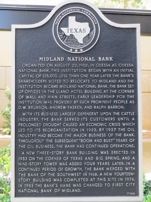 Midland National Bank Marker image. Click for full size.