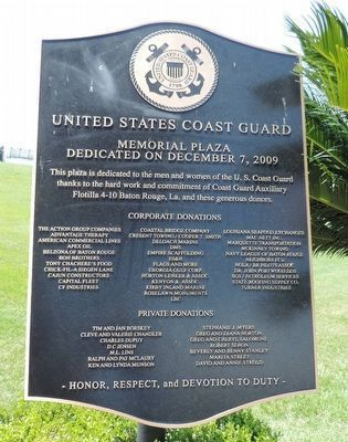 United States Coast Guard Memorial Plaza Marker image. Click for full size.