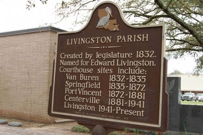 Livingston Parish Marker image. Click for full size.