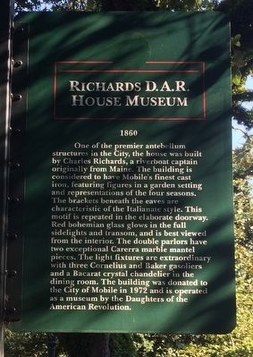 Richards D.A.R. House Museum Marker image. Click for full size.