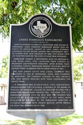 James Harrison Parramore Marker image. Click for full size.