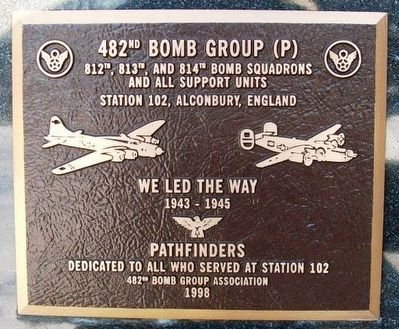 482nd Bomb Group (P) Marker image. Click for full size.