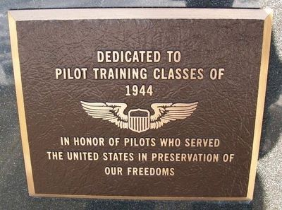 Pilot Training Classes of 1944 Marker image. Click for full size.