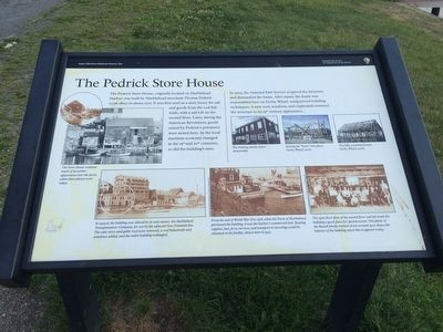 The Pedrick Store House Marker image. Click for full size.