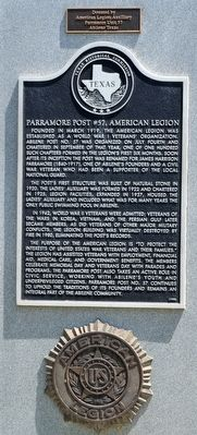 Parramore Post #57, American Legion Marker image. Click for full size.