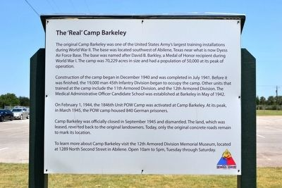 The 'Real' Camp Barkeley Marker image. Click for full size.