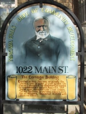 The Carnegie Building Marker image. Click for full size.